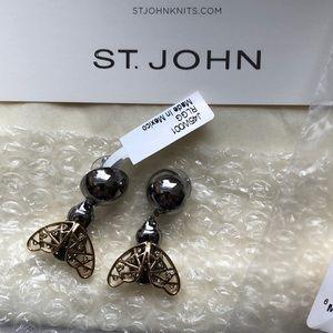 St. John Swarovski Crystal Earrings